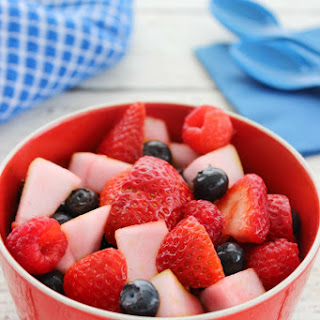 Red White and Blue Fruit Salad.