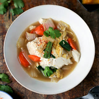 Simmered Tofu with Vegetables.