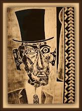 Photo: Antonio Berni El conde amigo de Ramona (o Aristócrata) 1963. Xilocollage. Matriz xilográfica: 78,1 x 56,5 cm. Estampa: 99,7 x 64,6 cm. The Museum of Fine Arts, Houston, EE.UU. Expo: Antonio Berni. Juanito y Ramona (MALBA 2014-2015)