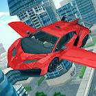 Carro volador 3D icon