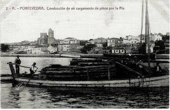 Photo: Cargamento de Piñeiros pola ría
