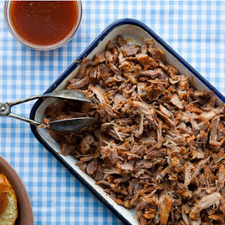 North Carolina-Style Pulled Pork with Vinegar Sauce.