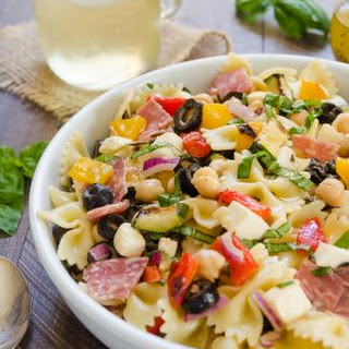 Italian Chopped Pasta Salad (and a video!)
