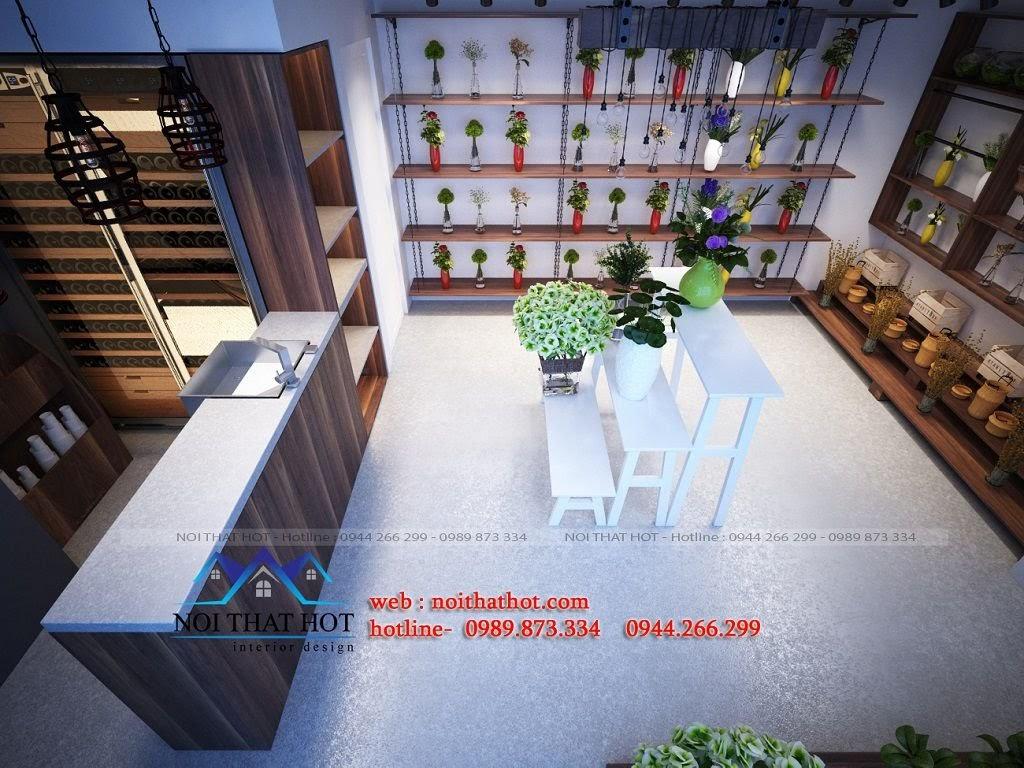 thiết kế shop hoa tươi hiện đại