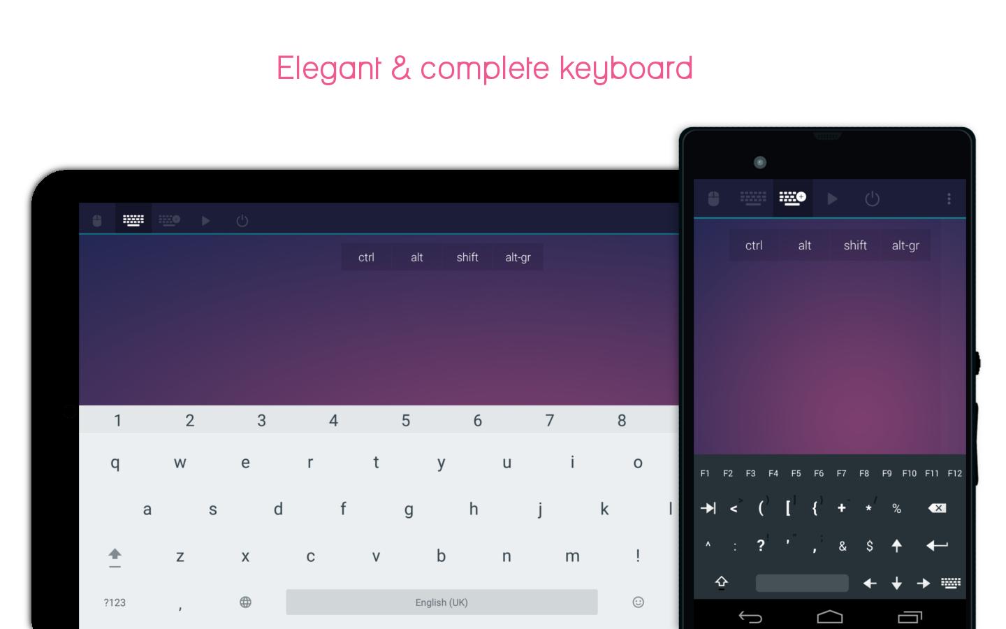 Telepad - mouse & keyboard- screenshot