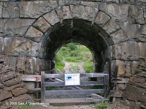 Photo: A hiking trail starting at an underpass at the Dovre line close to Kongsvold