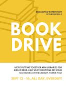 Library Book Drive - Flyer item