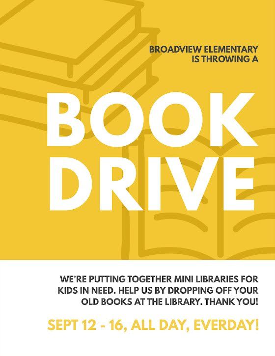 Library Book Drive - Flyer Template