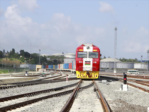 The SGR Cargo train at the Port of Mombasa, January 4, 2017.