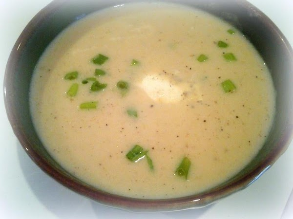 Serve with green onion and a dollop of sour cream if desired.  This soup is...