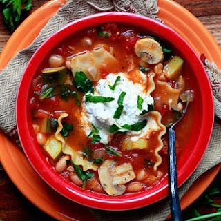 Vegetable Lasagna Soup.
