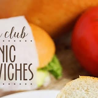 Turkey Club Picnic Sandwiches.