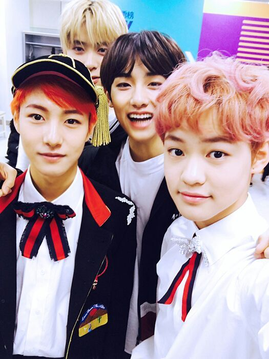 NCT Chenle and Renjun with Winwin and Jaehyun