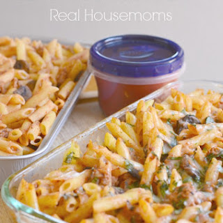 Baked Italian Penne {Freezer Meals} #BacktoSchool