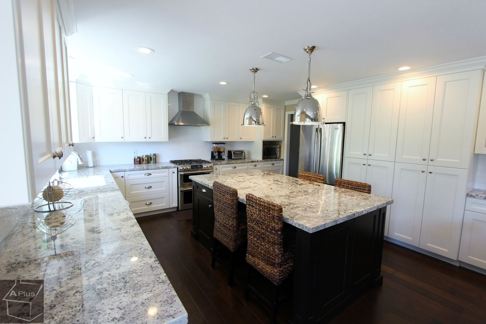 Irvine Contemporary Style Kitchen Remodel White Custom Cabinets