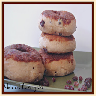 Cinnamon-Dipped Raisin Doughnuts