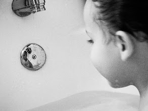 Photo: Once Upon A Bathtime  I can almost still hear the splashes and laughter of your tiny, past self.  Braden, Age 3, October 2009  For #WeAreParents  curated by +Juan Gonzalez  #WeAreFamily   #Monochrome   #Haiku