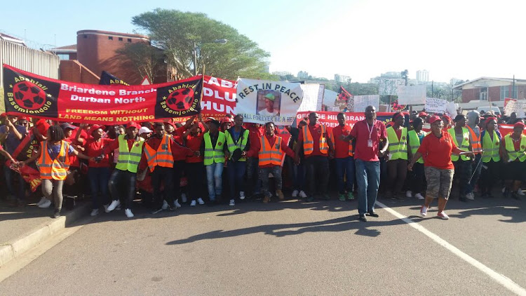 Durban shack dwellers demand end to violent evictions.