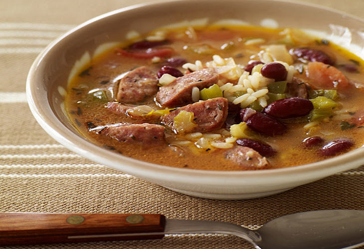 Slow Cooker Red Bean, Sausage and Rice Soup Recipe | Yummly
