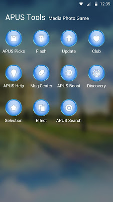 Clouds-APUS Launcher theme - screenshot