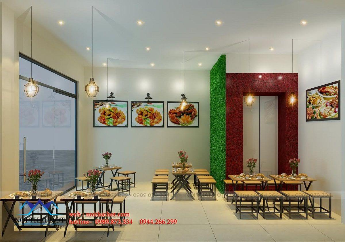 thiết kế quán ăn nhanh tại Đào tấn