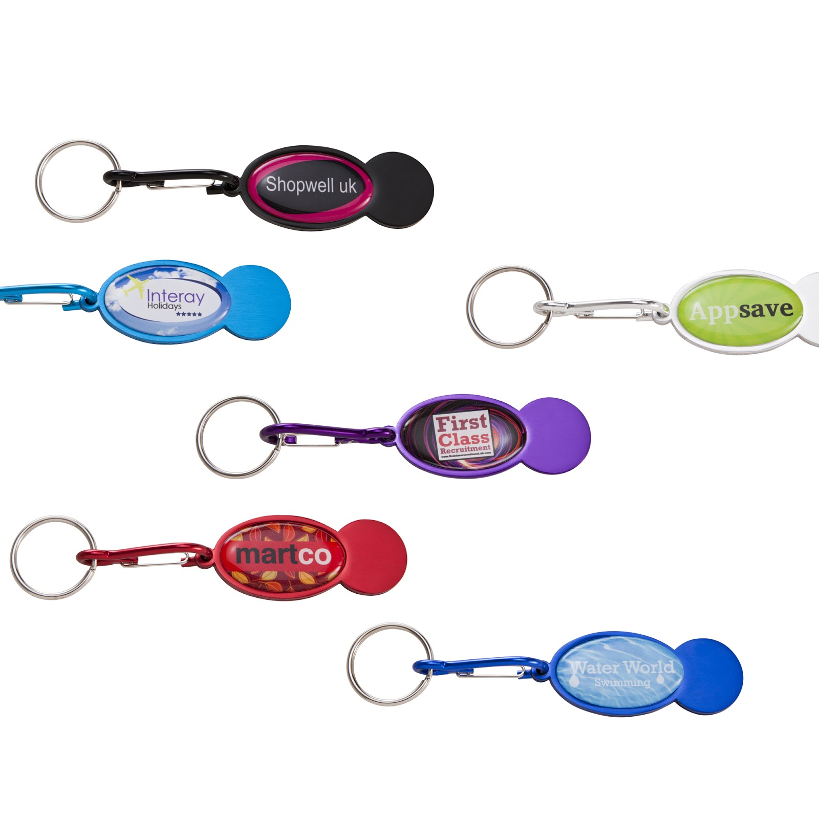 Trolley Coin Keyring to Brand