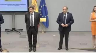El ministro de Inclusión, Seguridad Social y Migraciones, José Luis Escrivá, con los representantes de las organizaicones de autónomos.