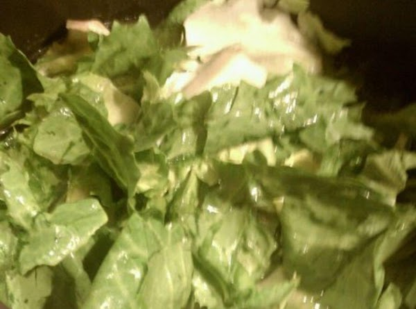 pull apart lettuce leaves, rinse and rip, ( i like the thick stemmy parts...