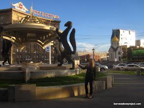 Photo: Statues of sables, the emblem of Novosibirsk