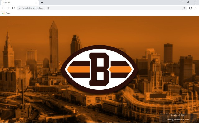 NFL Cleveland Browns New Tab Theme