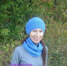Photo: женский вязаный комплект шапка и шарф Барвинок