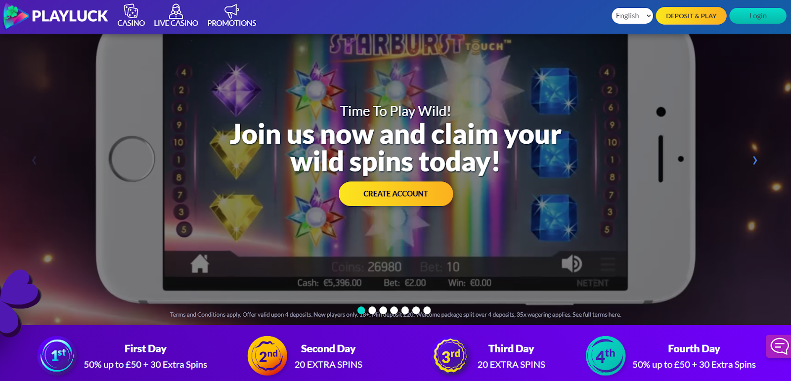playluck homepage