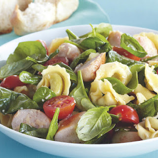 Warm Tortellini Salad with Chicken Sausage