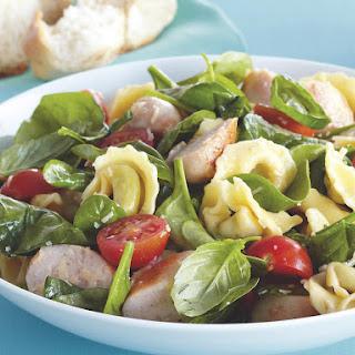 Warm Tortellini Salad with Chicken Sausage.