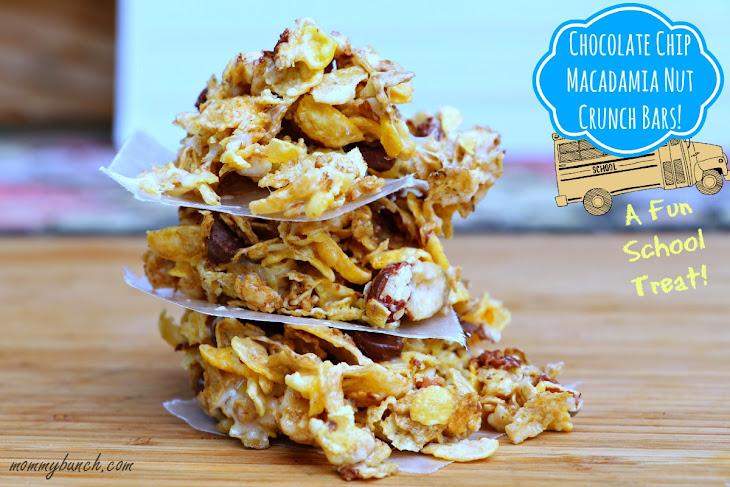 Chocolate Chip Macadamia Nut Crunch Bars Recipe