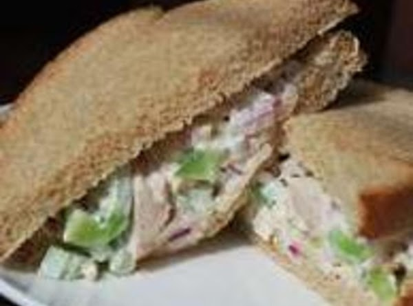 CHICKEN SALAD SANDWICH: Grandma chopped up a cup or two of leftover cooked chicken...