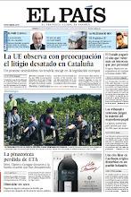 Photo: En la portada de EL PAÍS del domingo 23 de noviembre: La UE observa con preocupación el litigio desatado en Cataluña; La pinacoteca perdida de ETA (Miró, Tapies y Canogar donaron a la banda cuadros que han desaparecido); Esperanza Aguirre: dimisión en seco. Y en EL PAÍS SEMANAL, Salman Rushdie, la memoria de un cautivo. http://srv00.epimg.net/pdf/elpais/1aPagina/2012/09/ep-20120923.pdf