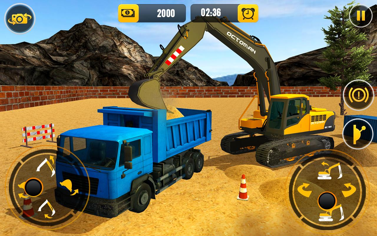 Heavy Excavator Crane: Construction City Truck 3D- screenshot