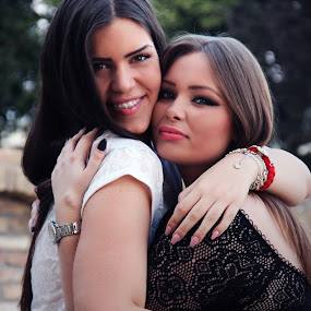 by Sandra Jakovljevic - People Family ( love, fashion, sisters, hug, summer )
