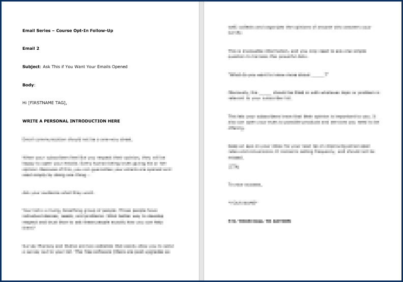 Email Copywriting Essentials - Opt-In Email 2