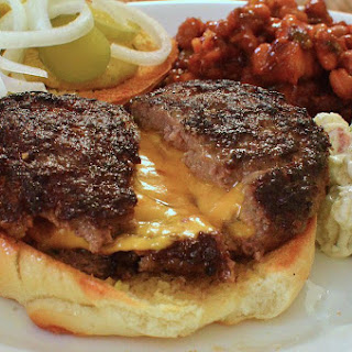 Bacon Double Cheese Stuffed Burgers Recipe