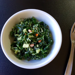 "Kale Salad with Creamy Blue ""Cheese"" Dressing"