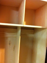 Photo: I reinforced the backs to hold the hangers.