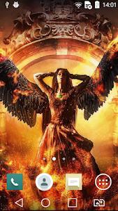 Angelic girl live wallpaper screenshot 1