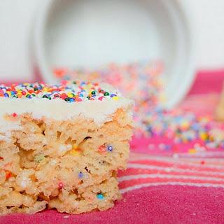 White Chocolate Cake Mix Rice Krispie Treats