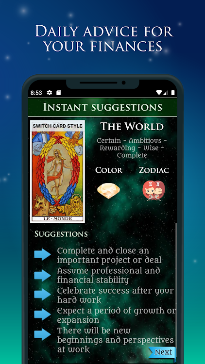 Tarot of Money & Finance - Free Tarot Card Reading – (Android Apps
