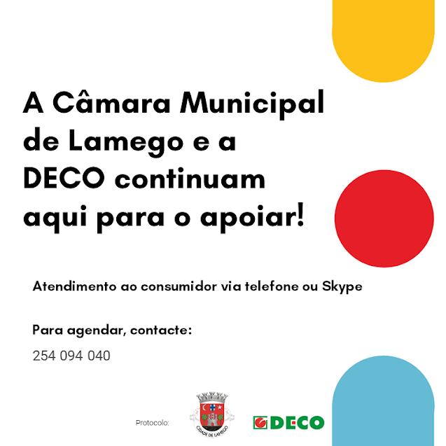 Câmara de Lamego e DECO apoiam consumidores via Skype