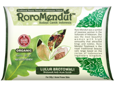 Lulur Brotowali RoroMendut 40Gr RORO MENDUT BPOM 40gr lulur herbal mengobati jerawat acne kulit berminyak