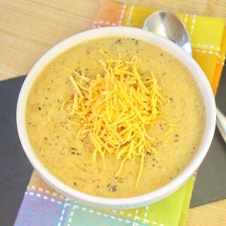 Broccoli, Cheddar & Potato Soup.