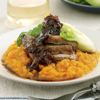 Slow Braised Pork with Mashed Pumpkin.